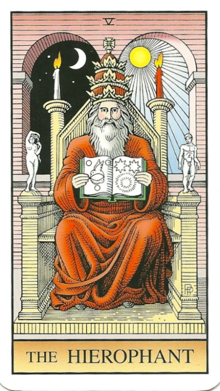 The Hierophant - The Alchemical Tarot- Renewed by Robert M. Place