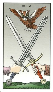 Two of Swords - Alchemical Tarot Renewed by Robert M. Place