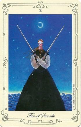 Two of Swords - Stella's Tarot by Stella Kaoruko & Takako Hoei