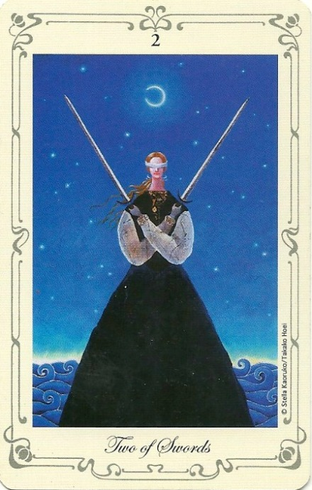 Two of Swords - Stella's Tarot by Stella Kaoruko & Takako Hoei
