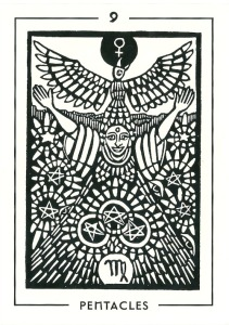 9 of Pentacles - The Light and Shadow Tarot by Michael Goepferd & Brian Williams