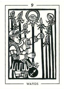 9 of Wands - The Light and Shadow Tarot by Michael Goepferd & Brian Williams