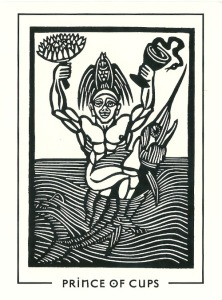 Prince (Page) of Cups - The Light and Shadow Tarot by Michael Goepferd & Brian Williams