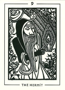 The Hermit - The Light and Shadow Tarot by Michael Goepferd & Brian Williams