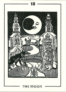 The Moon - The Light and Shadow Tarot by Michael Goepferd & Brian Williams