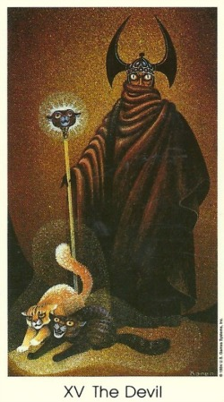 15 The Devil - Tarot of the Cat People