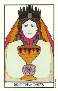 Queen of Cups - Aquarian Tarot by David Palladini