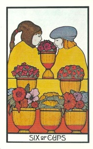 Six of Cups - Aquarian Tarot by David Palladini