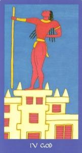 God (Hierophant) - Minoan Tarot by Ellen Lorenzi-Prince