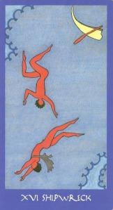 Shipwreck (The Tower) - Minoan Tarot by Ellen Lorenzi-Prince