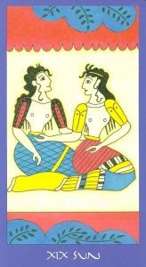 Sun - Minoan Tarot by Ellen Lorenzi-Prince