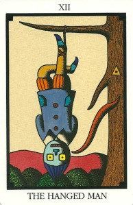 The Hanged Man - Tarot 22 by Toshiko Tuchihashi