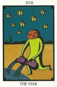 The Star - Tarot 22 by Toshiko Tuchihashi