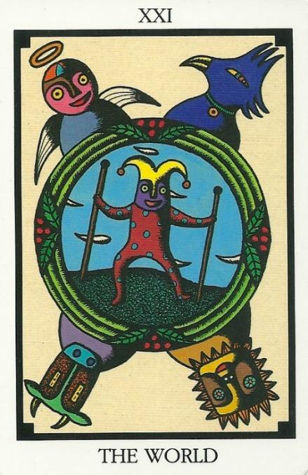 The World - Tarot 22 by Toshiko Tuchihashi