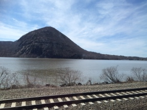 Train ride to CoSM by the Hudson River.