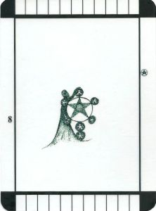 Eight of Pentacles - Transparent Tarot by Emily Carding