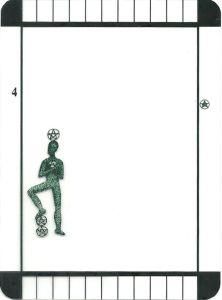 Four of Pentacles - Transparent Tarot by Emily Carding
