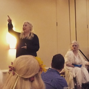 Nancy Antenucci and Rhonda Lund thoroughly entertained us with their tarot play.