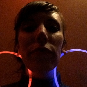 I found a new use for the glow sticks. Hooray for 12mm ear holes!