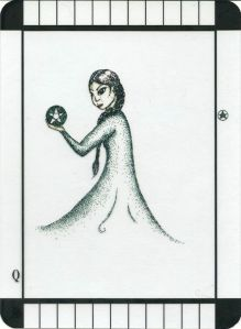 Queen of Pentacles - Transparent Tarot by Emily Carding