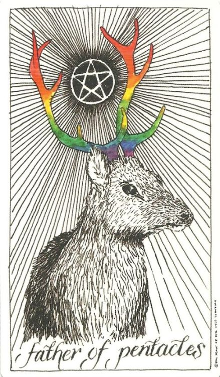 Father (King) of Pentacles - The Wild Unknown by Kim Krans