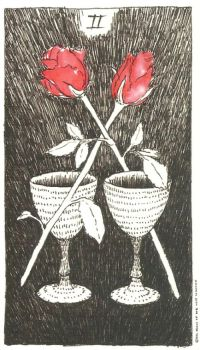 Two of Cups - The Wild Unknown by Kim Krans