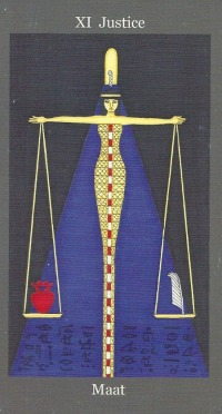 Justice ~ Maat - Dark Goddess Tarot by Ellen Lorenzi-Prince