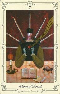 Seven of Swords - Stella's Tarot by Stella Kaoruko & Takako Hoei