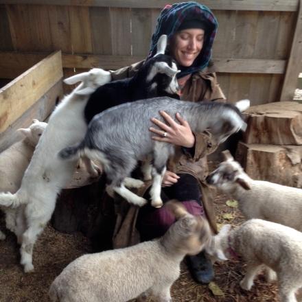 Psychic Sarah & Baby Goats 1