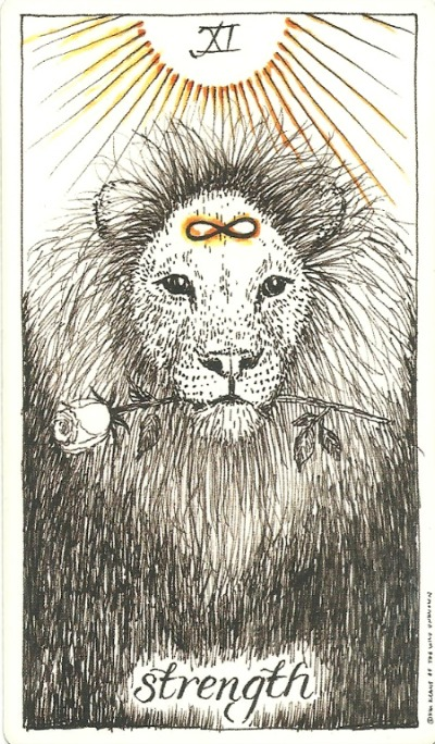 Strength - The Wild Unknown Tarot by Kim Krans