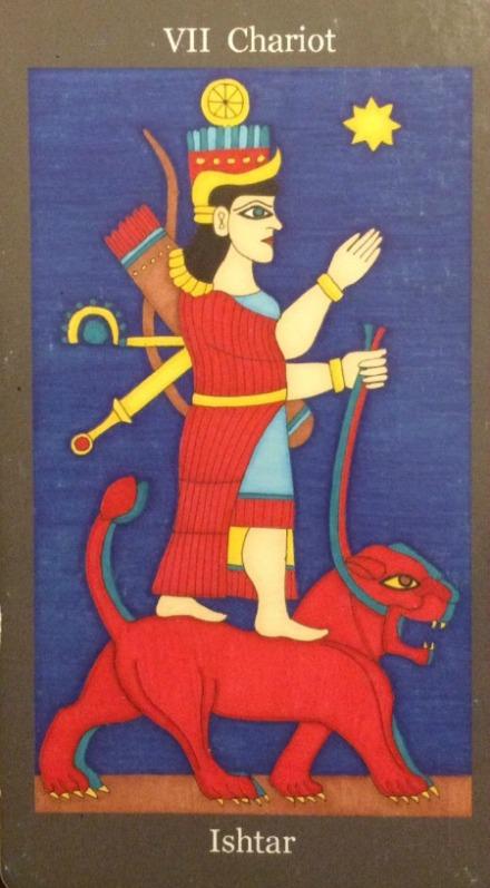 Chariot - Ishtar - Dark Goddess Tarot by Ellen Lorenzi-Prince