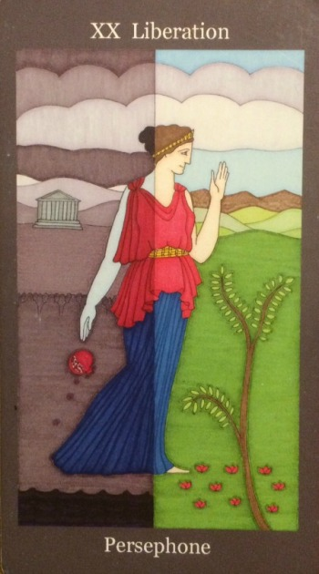 Liberation (Judgement) - Persephone - Dark Goddess Tarot by Ellen Lorenzi-Prince