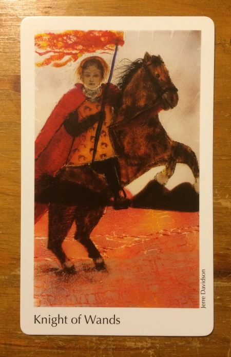 Knight of Wands - The Elora Tarot Project ~ artist Jerre Davidson.jpg