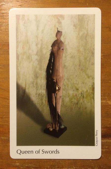 Queen of Swords - The Elora Tarot Project ~ artist Grayce Perry.jpg