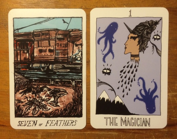 Seven of Feathers and The Magician - The Collective Tarot by the Tarot Collective.jpg