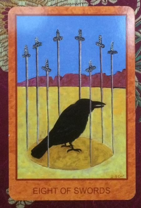 Eight of Swords - Tarot de St. Croix by Lisa de St. Croix