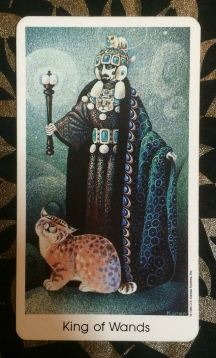 King of Wands - Tarot of the Cat People by Karen Kuykendall