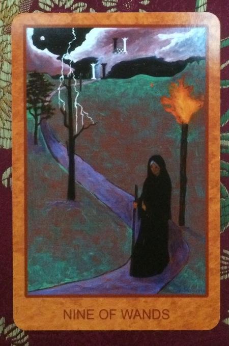 Nine of Wands - Tarot de St. Croix by Lisa de St. Croix