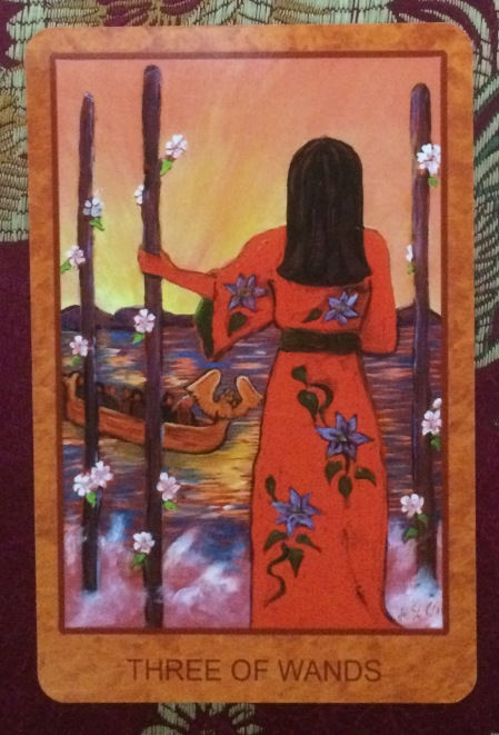 Three of Wands - Tarot de St. Croix by Lisa de St. Croix