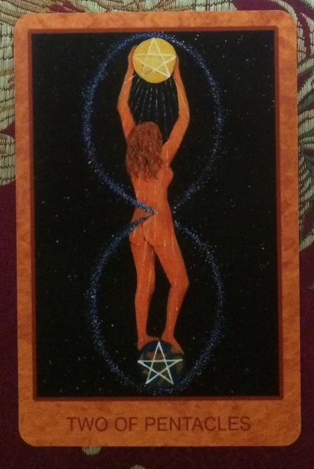 Two of Pentacles - Tarot de St. Croix by Lisa de St. Croix