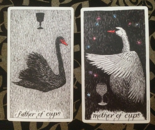 Father & Mother of Cups - The Wild Unknown Tarot by Kim Krans
