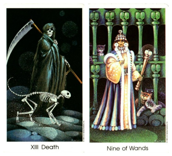 death-the-nine-of-wands-tarot-of-the-cat-people-by-karen-kuykendall