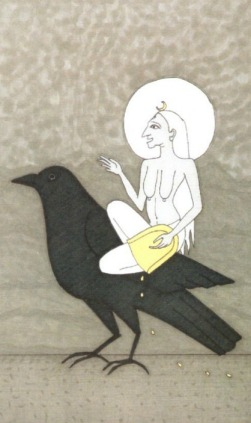 IX Dhumavati (Hermit) - Kali Tarot Prayer Cards by Ellen Lorenzi-Prince.jpg