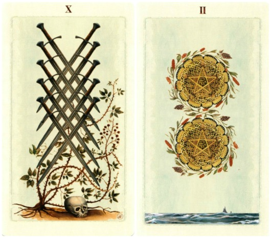 ten-of-swords-two-of-pentacles-pagan-otherworlds-tarot-by-uusi