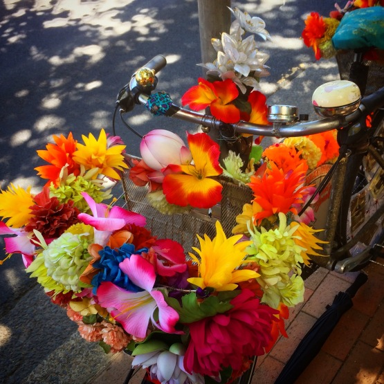 Psychic Sarah Divination Bike Flower Bike.JPG