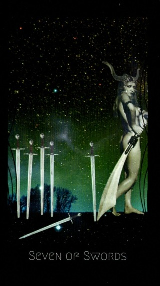 Seven of Swords - The Disciples Tarot by Kathryn Thyme Giese