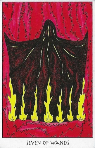 Seven of Wands - Tarot of the Crone by Ellen Lorenzi-Prince