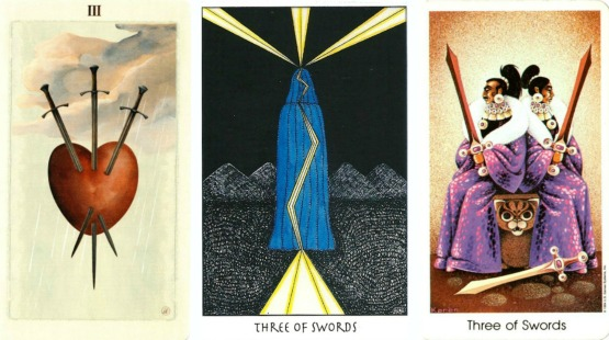 Three of Swords together