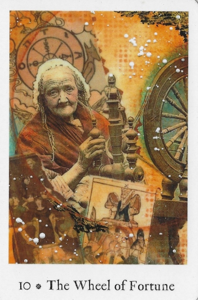 Wheel of Fortune - Pentimento Tarot by Joanna Powell Colbert