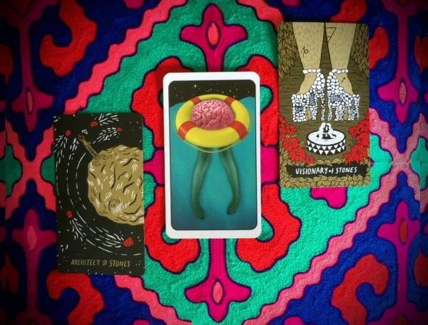 Aries Tarotscope July 2017 Psychic Sarah Barry - Slow Holler Tarot by the Slow Holler Collective and Brown Magick Oracle Cards by Richie Brown